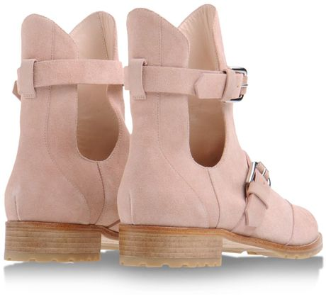 Light Pink Ankle Boots Ankle Boots in Pink Light