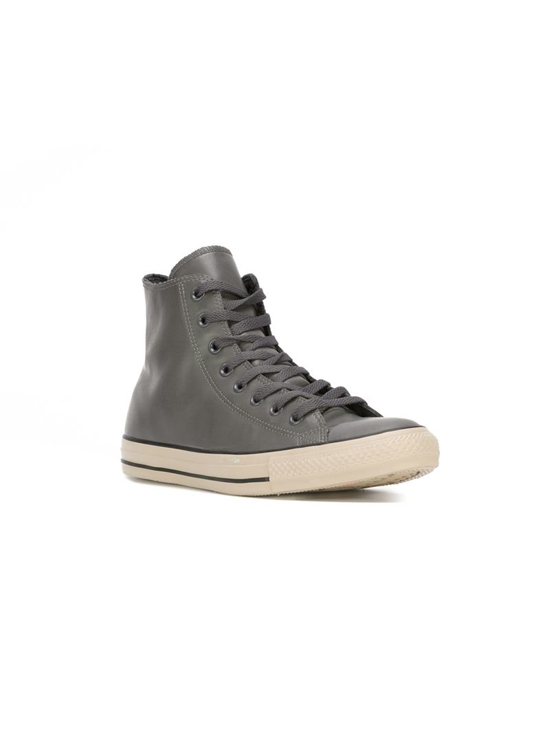 converse all star high top sneakers in gray lyst. Black Bedroom Furniture Sets. Home Design Ideas