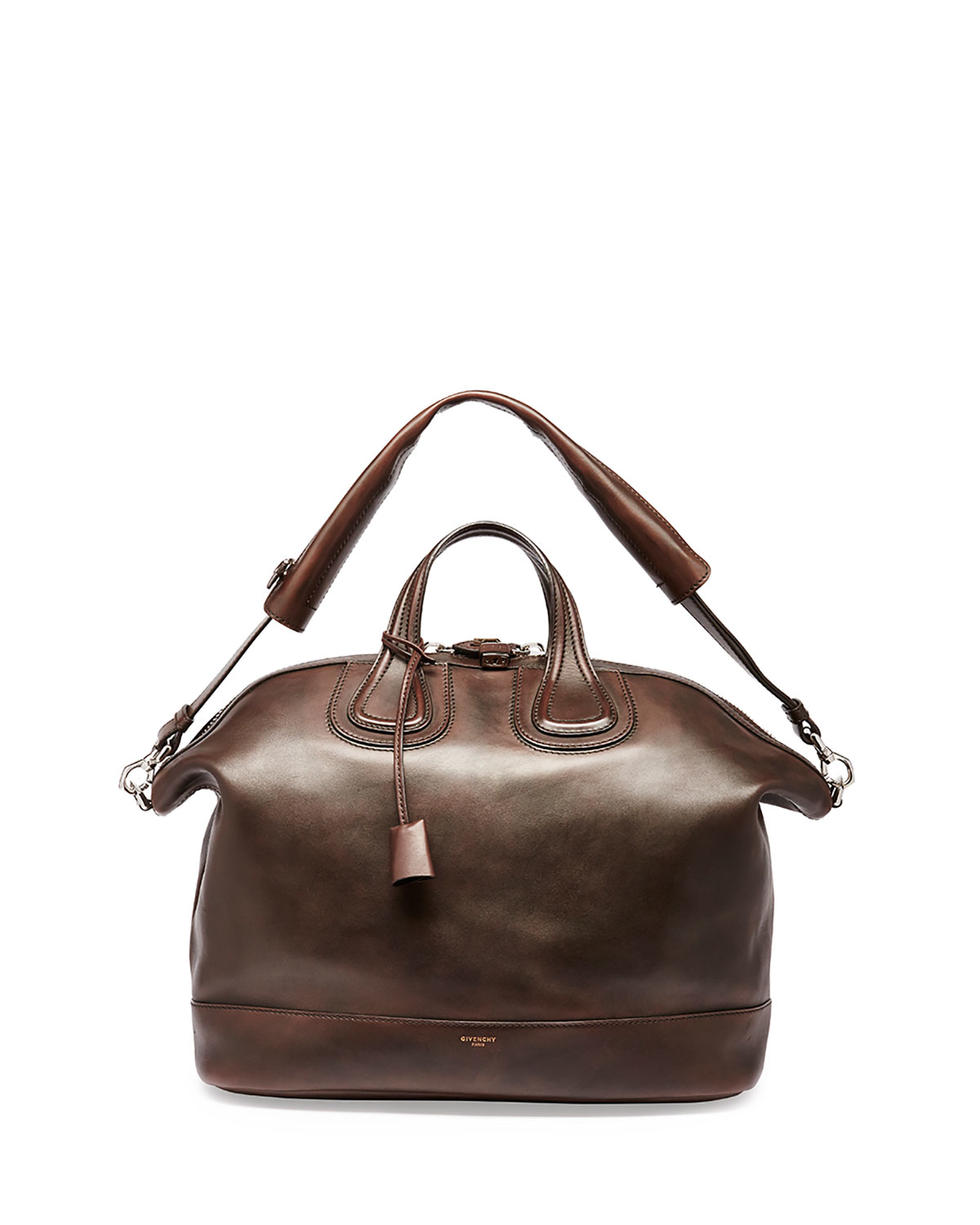Lyst - Givenchy Nightingale Men s Leather Satchel Bag in Brown for Men 21ba315aea
