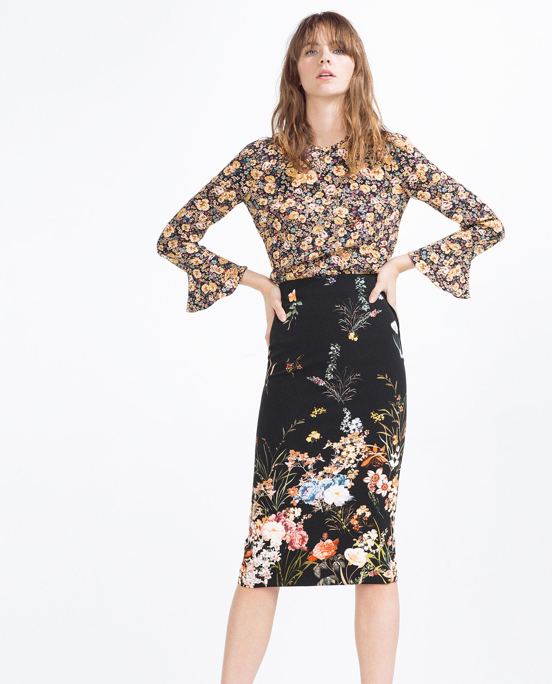 flowered pencil skirt dress ala