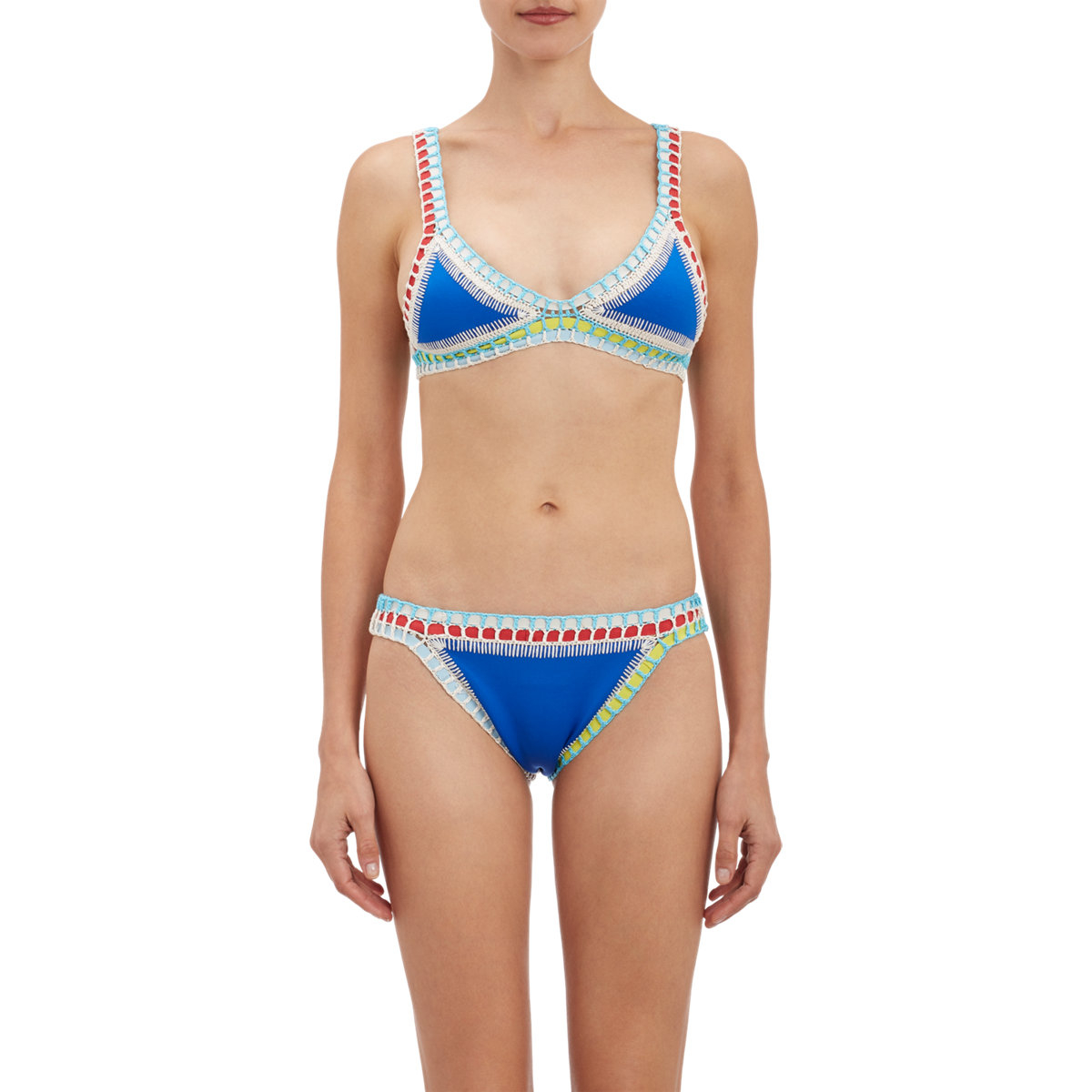 Kiini Tuesday Hand Crochet Triangle Bikini Top In