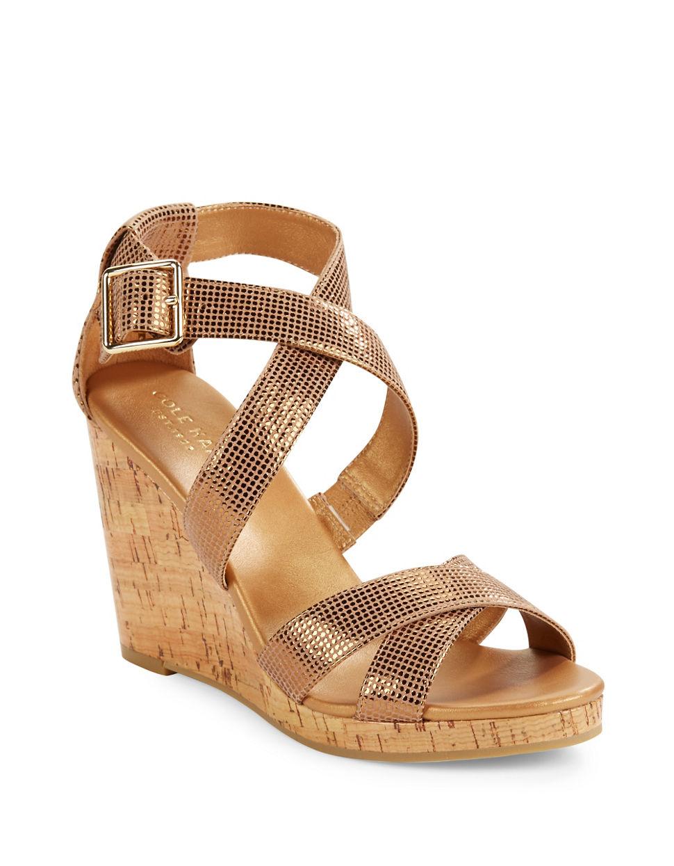Womens Sandals Cole Haan Jillian Wedge Black