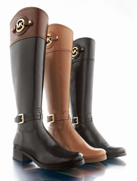 michael michael kors stockard leather boot in brown