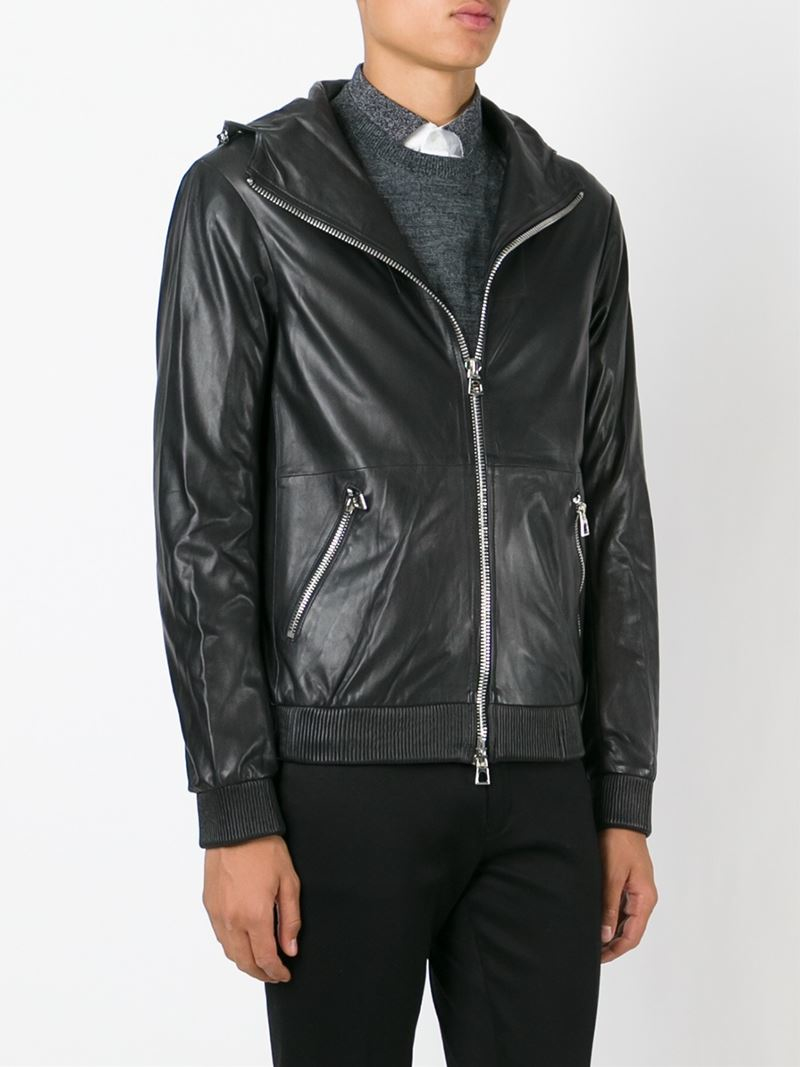 Emporio armani leather jackets