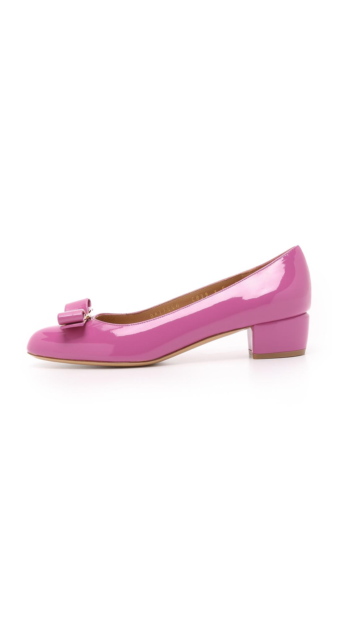 Purple Pumps Low Heel