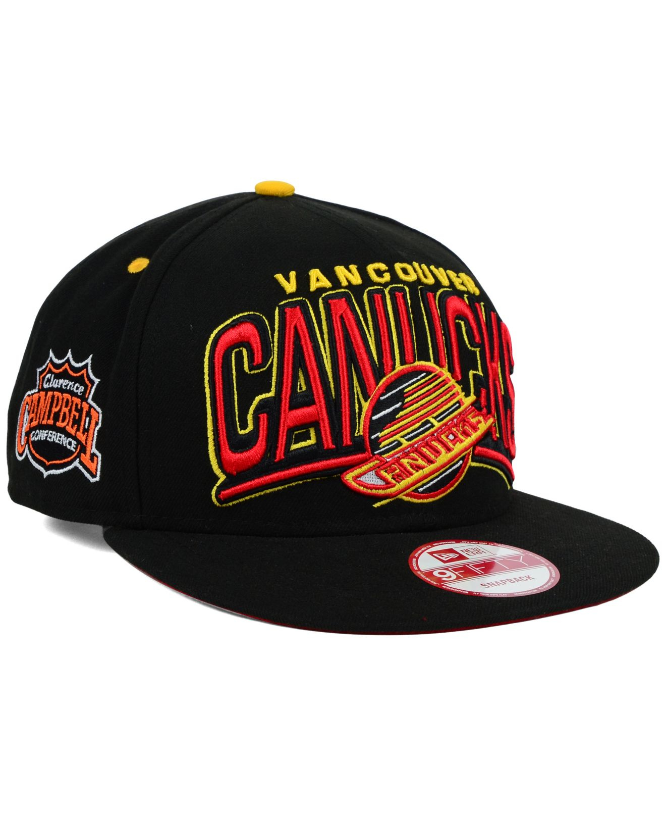 Lyst - Ktz Vancouver Canucks Back Up 9fifty Snapback Cap in Black ... 131a3018dff2
