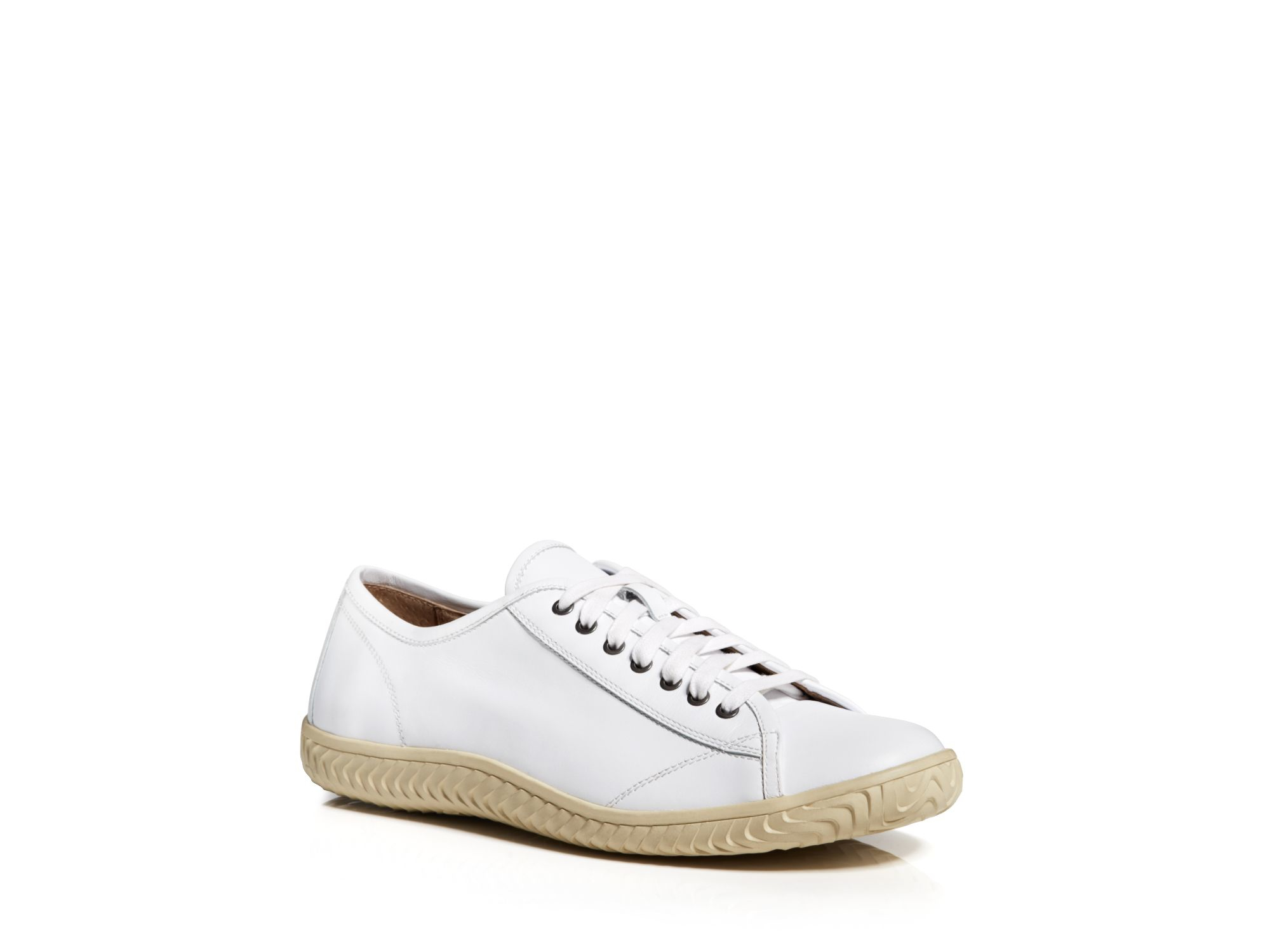 varvatos usa hattan low top sneakers in white