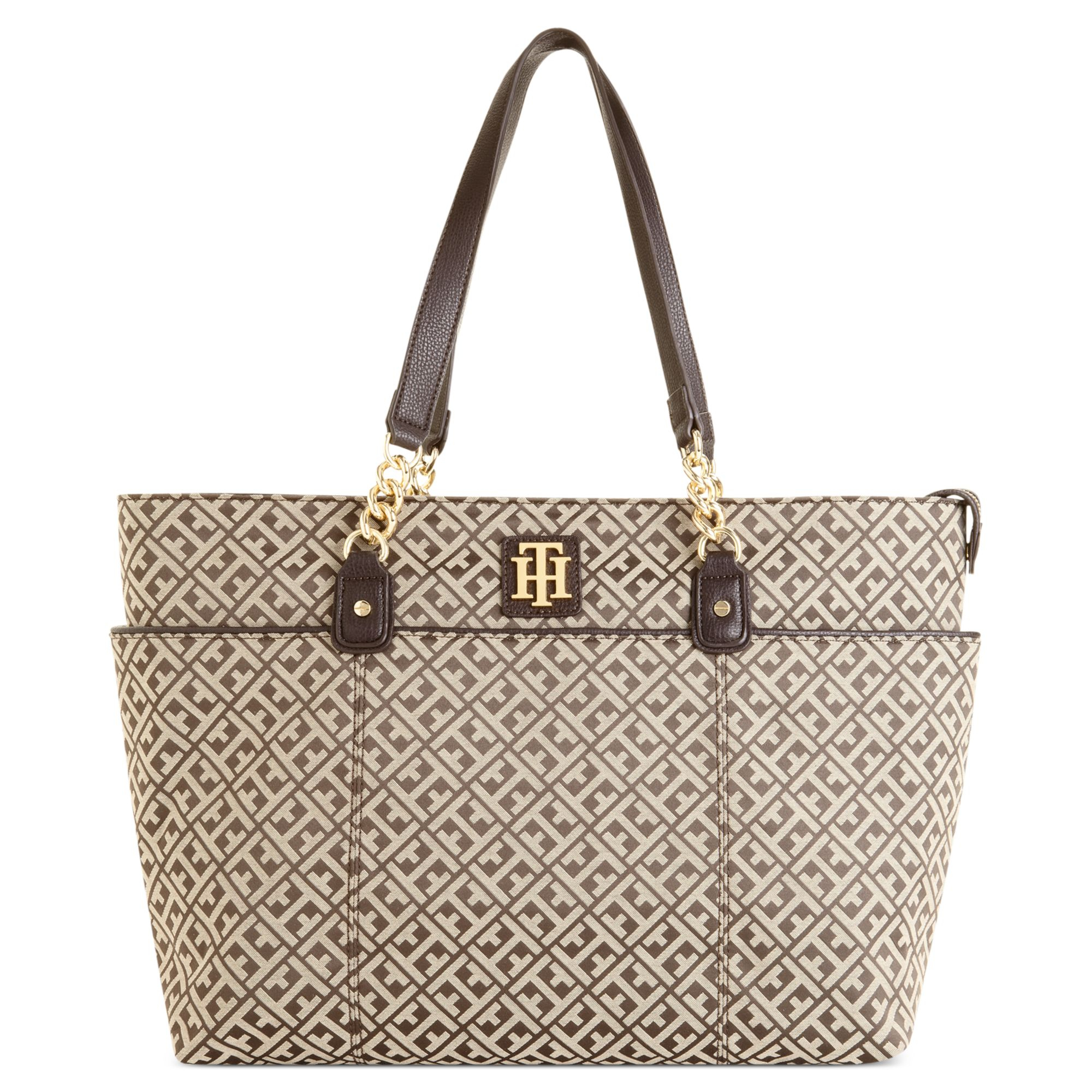 73ee5ce065 Tommy Hilfiger Bombay Signature Jaquard Tote in Brown - Lyst
