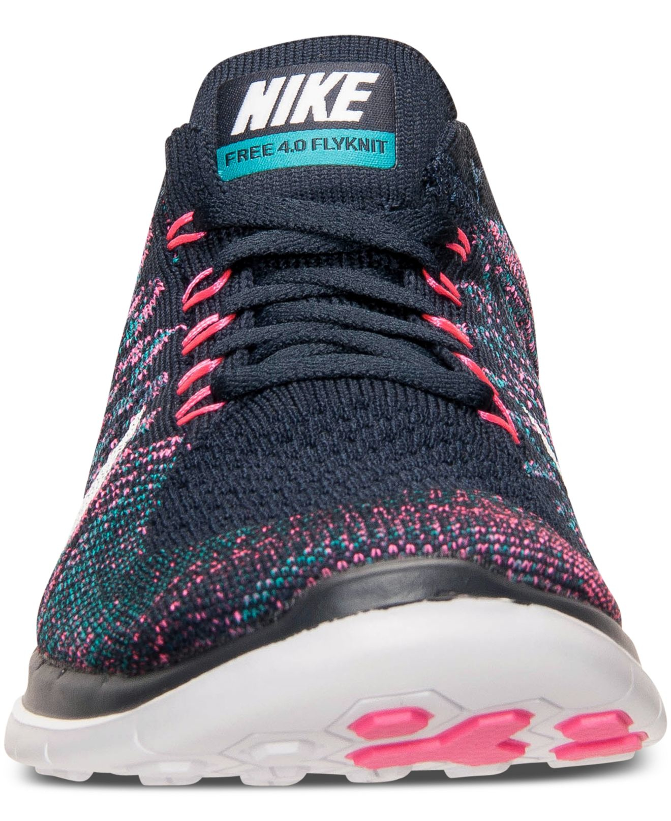 Lyst - Nike Women s Free Flyknit 4.0 Running Sneakers From Finish ... 7c5429a0e