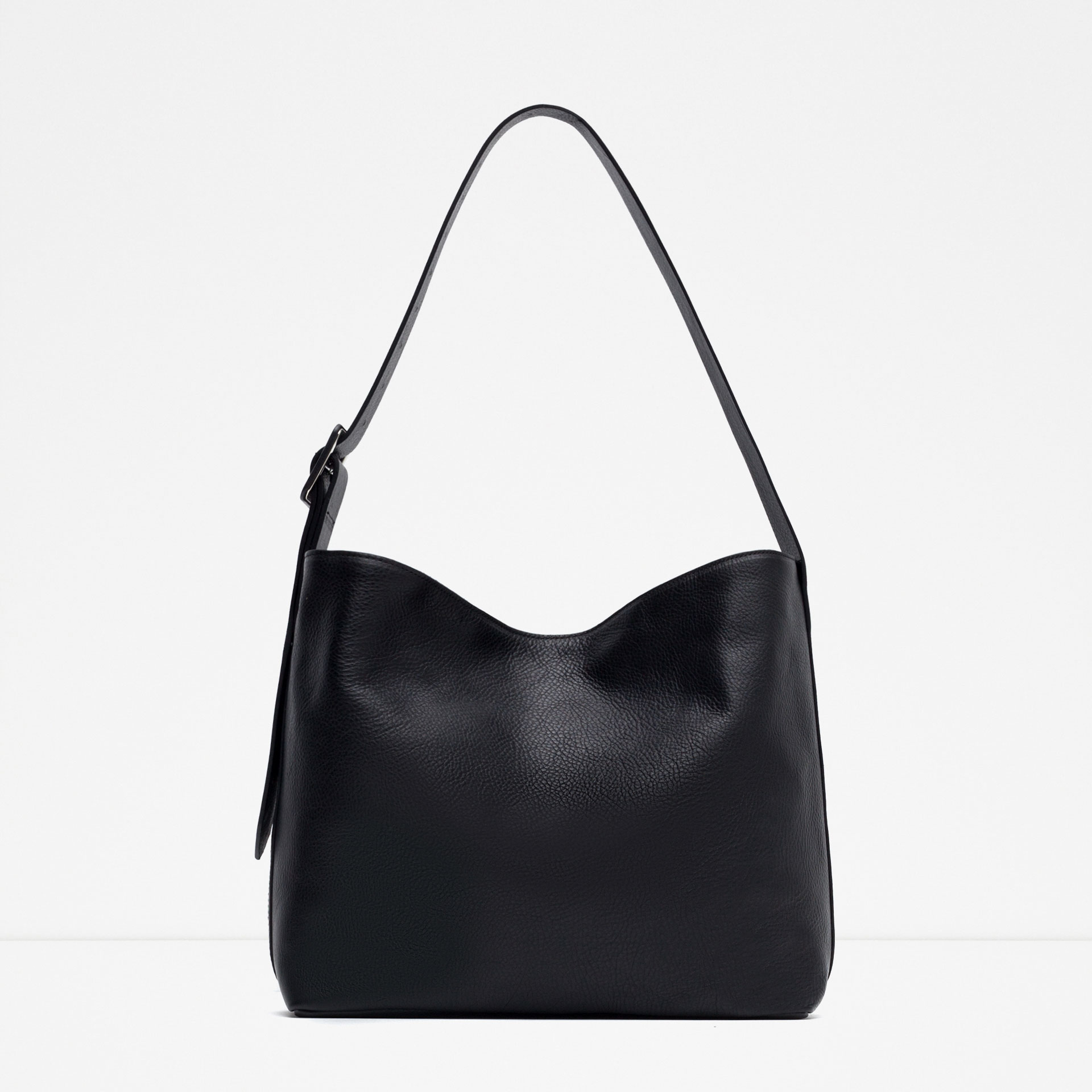 Perfect Zara Shopper Bag With Buckles In Purple | Lyst