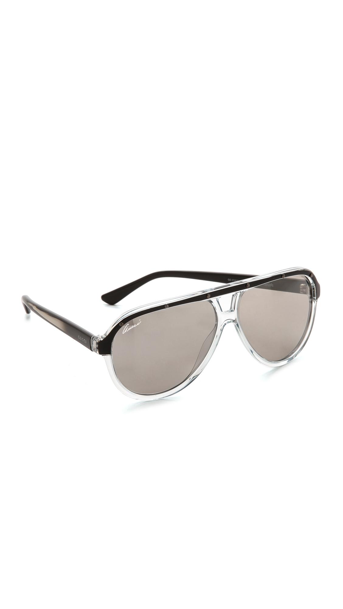 b0a28f0eb35 Gucci Aviator Sunglasses - Violet Black pink in Black - Lyst