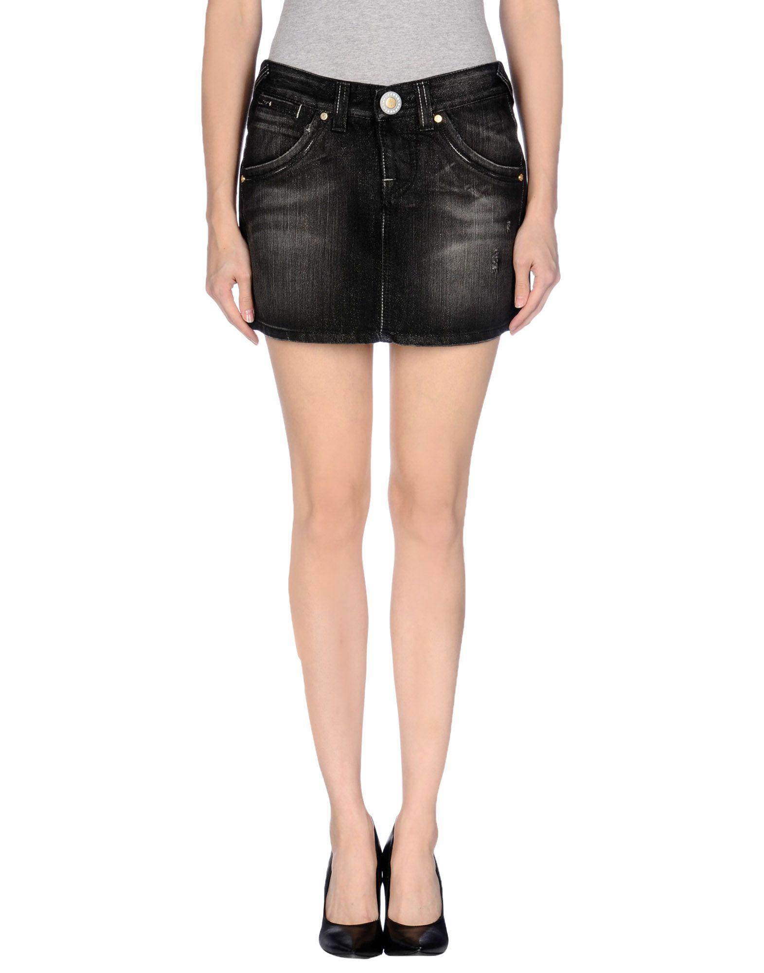 s o s by orza studio denim skirt in black lyst