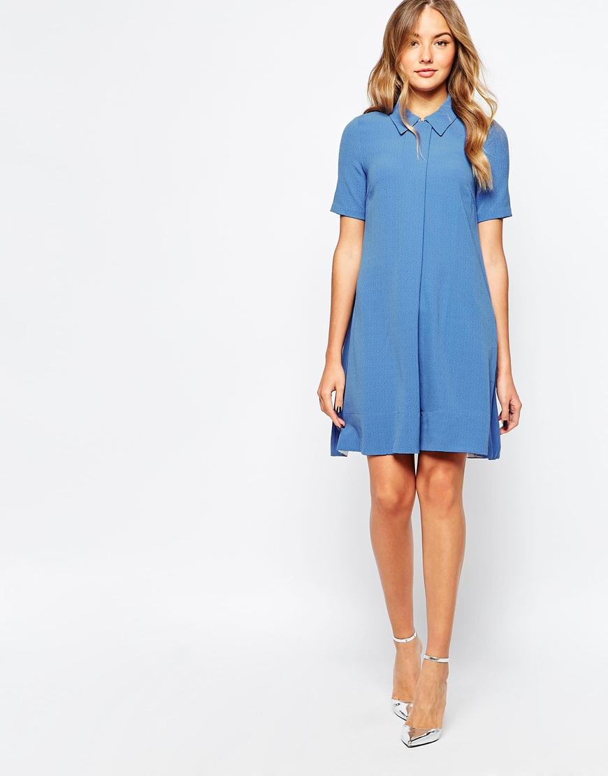 Traffic people Pillow Talk Summer Nights Dress Coat in Blue | Lyst