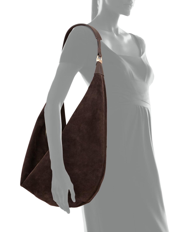 d52b3036b9f0 Lyst - The Row Sling 15 Suede Hobo Bag in Brown