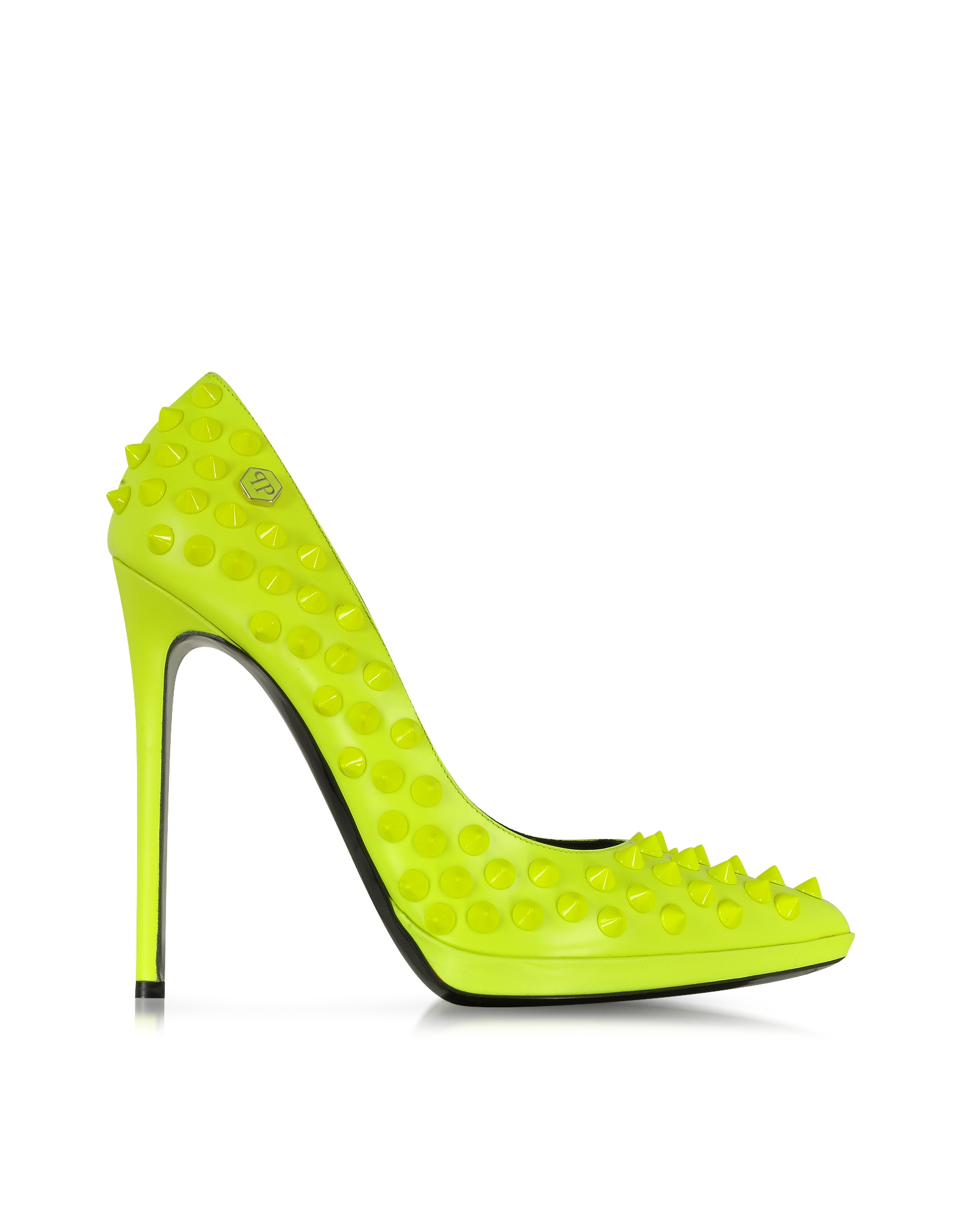 Lyst - Philipp plein Neon Yellow High Heels Pop Studded Pump in Green