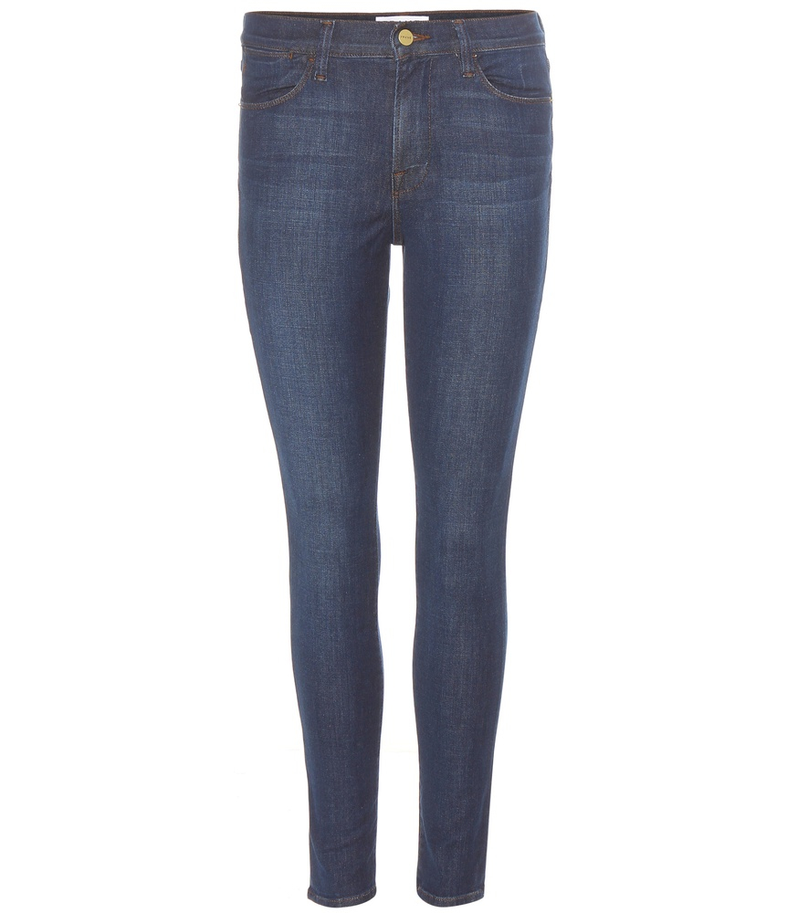 Frame Le High Skinny Jeans In Blue Lyst