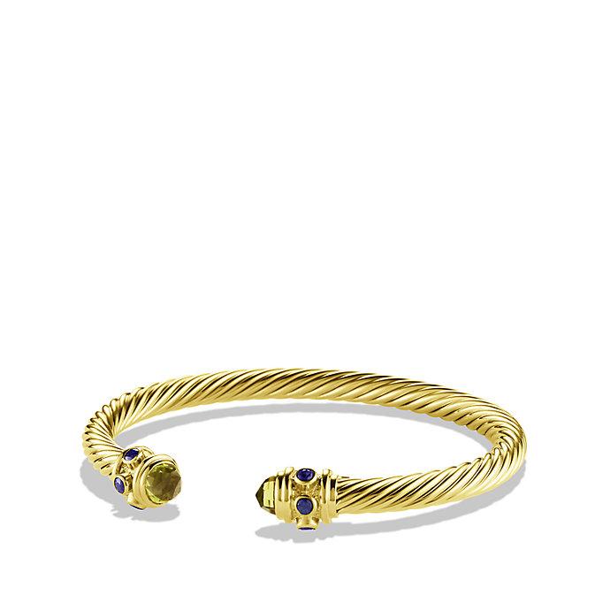 David Yurman Renaissance Bracelet With Peridot And