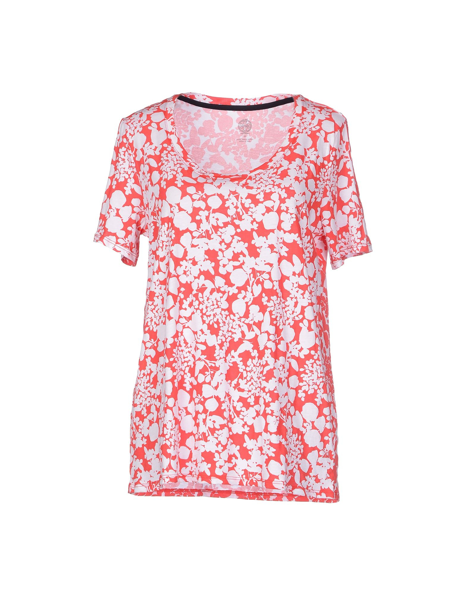 Tory burch t shirt in red lyst for Tory burch t shirt