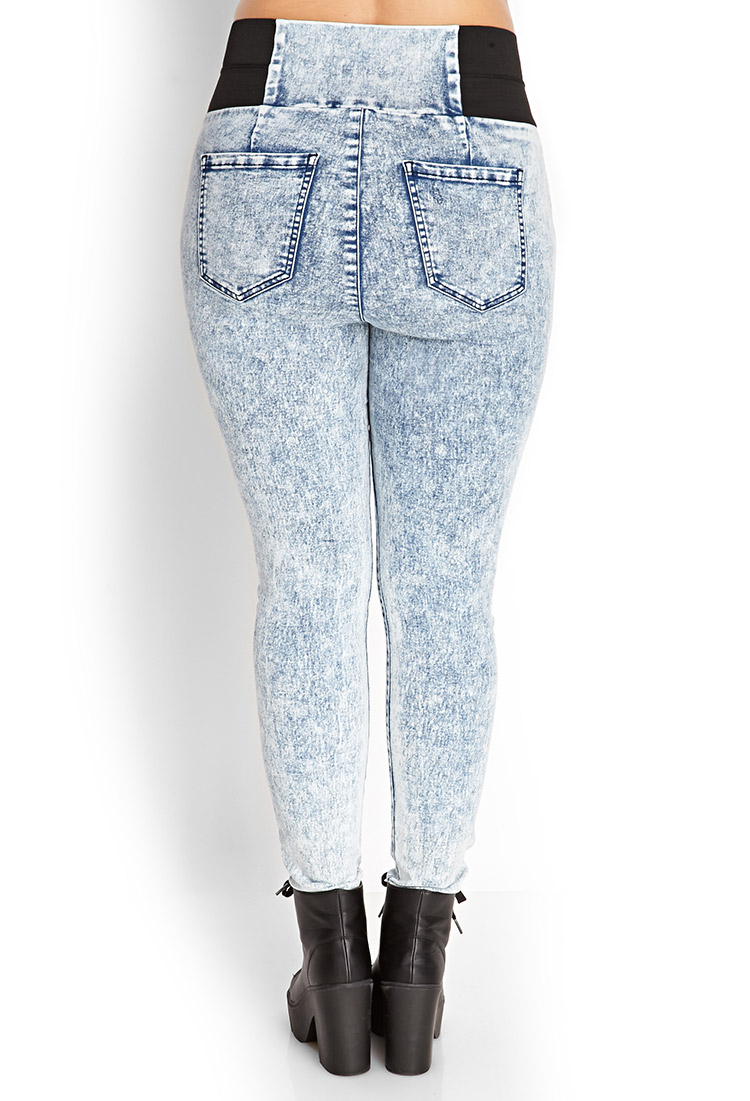 Gallery. Women's High Waisted Jeans ... - Forever 21 High-waist Acid Wash Jeans In Blue Lyst