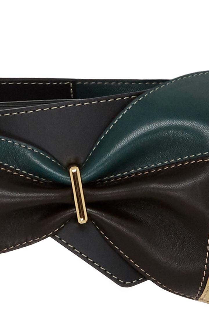 marni leather tie belt in black lyst