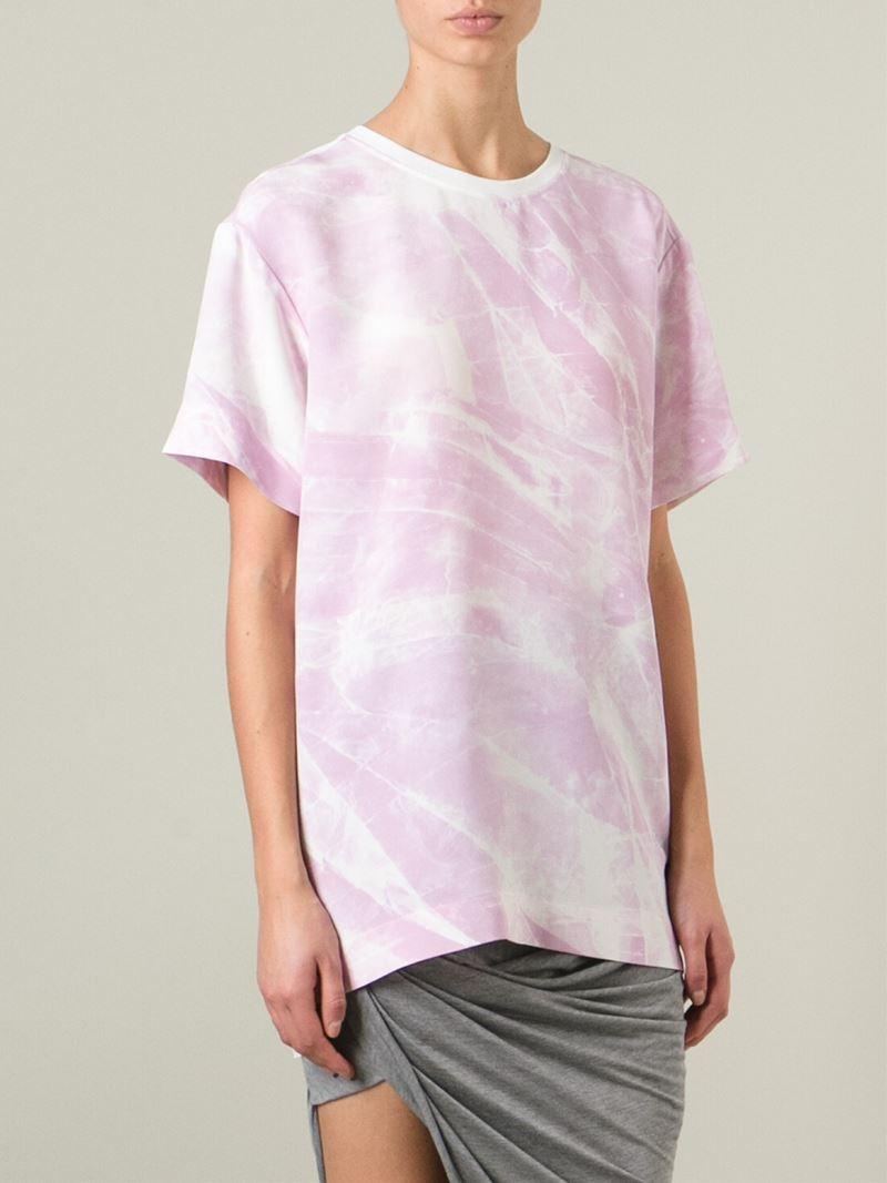 helmut lang oversize t shirt in pink lyst. Black Bedroom Furniture Sets. Home Design Ideas