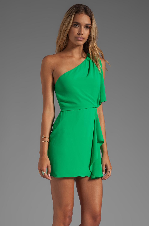 Bcbgmaxazria Mina One Shoulder Dress in Green in Green | Lyst
