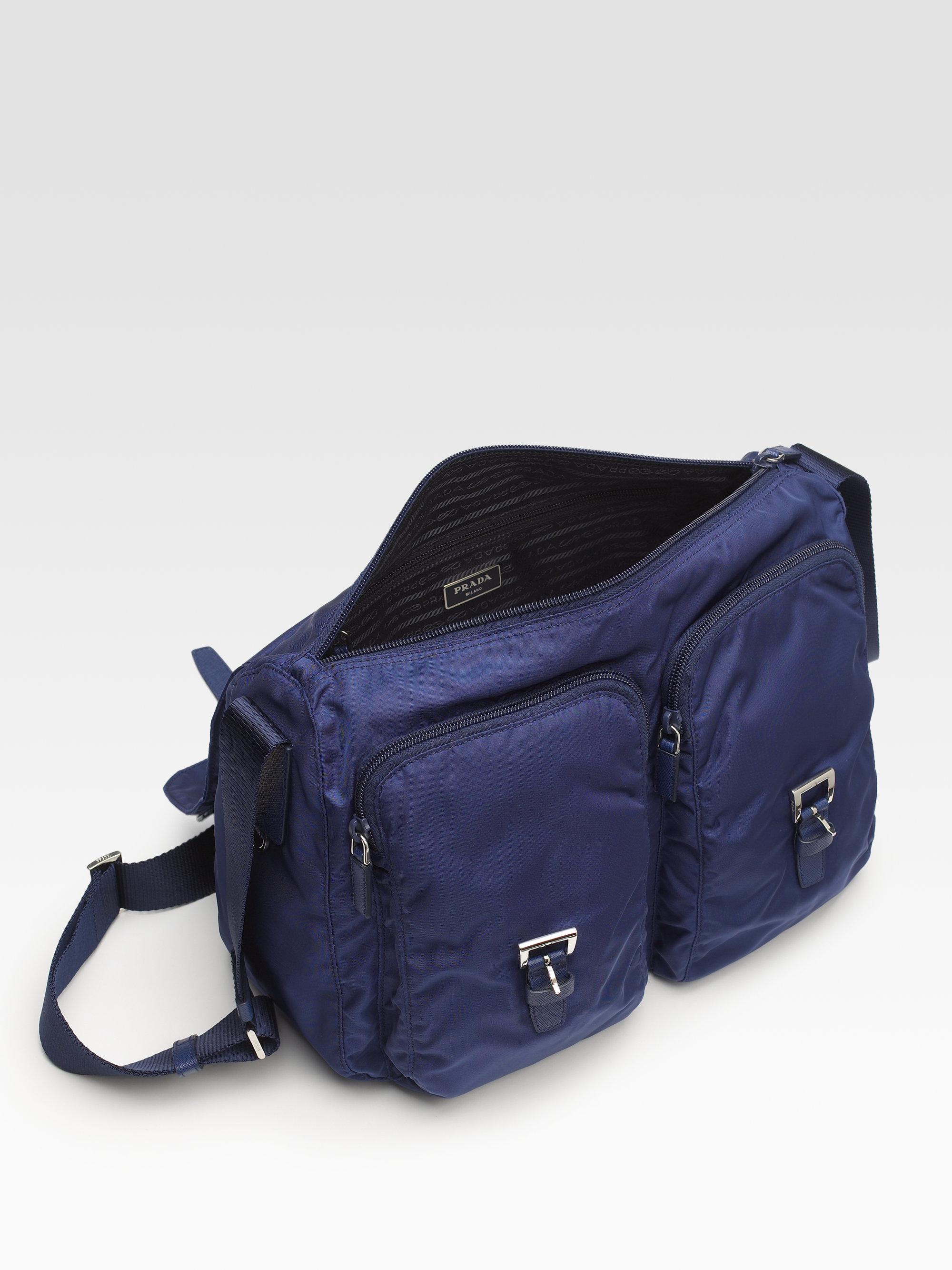 3d42153b1d19 Prada Vela Two-pocket Messenger Bag in Black for Men - Lyst