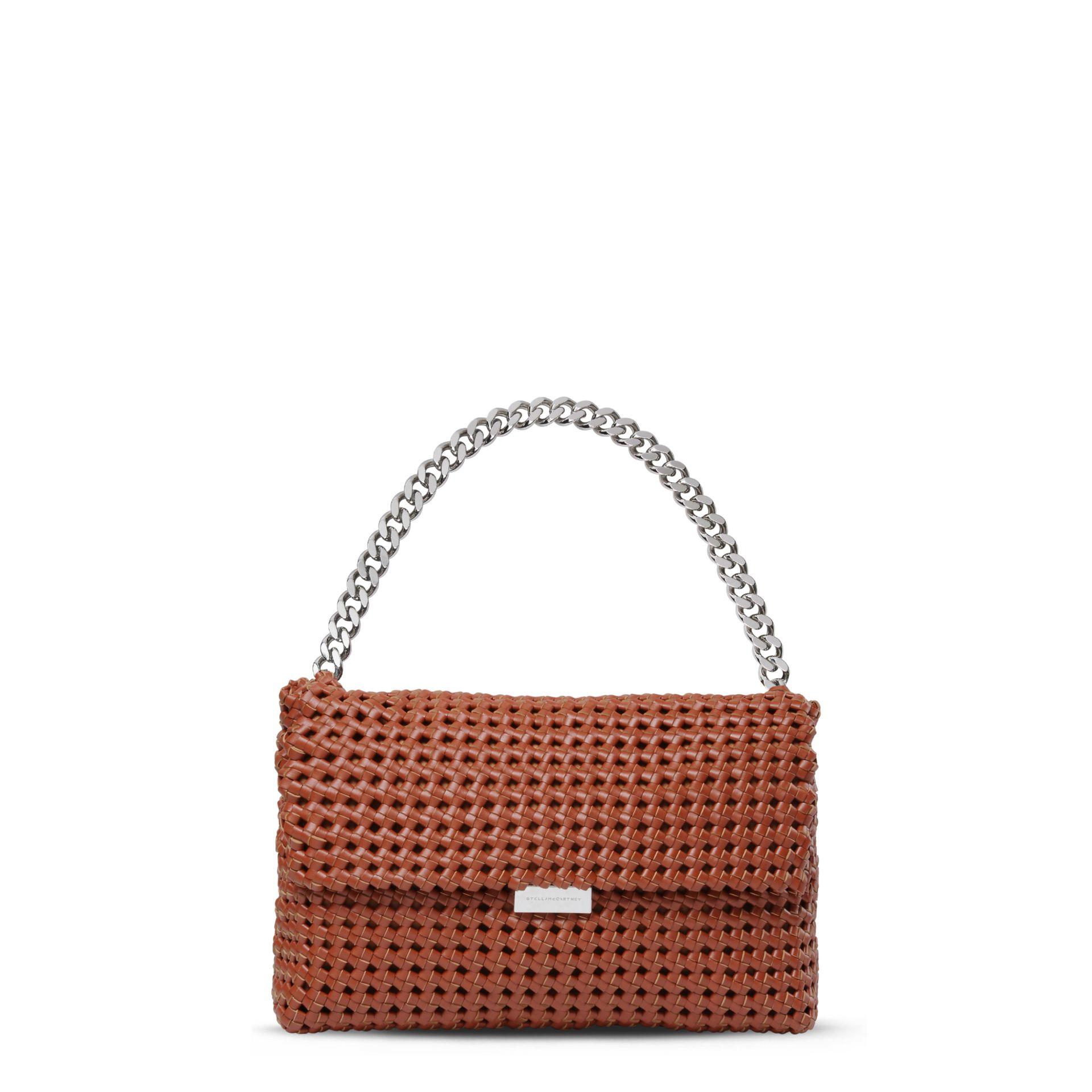 Stella Mccartney Brandy Becks Weaved Shoulder Bag In Brown Lyst