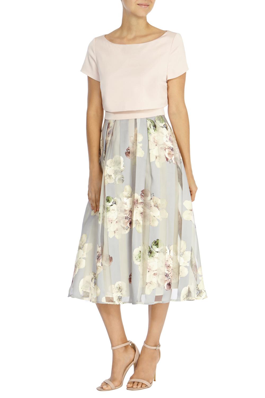 Lyst Coast Brea Floral Stripe Dress In White