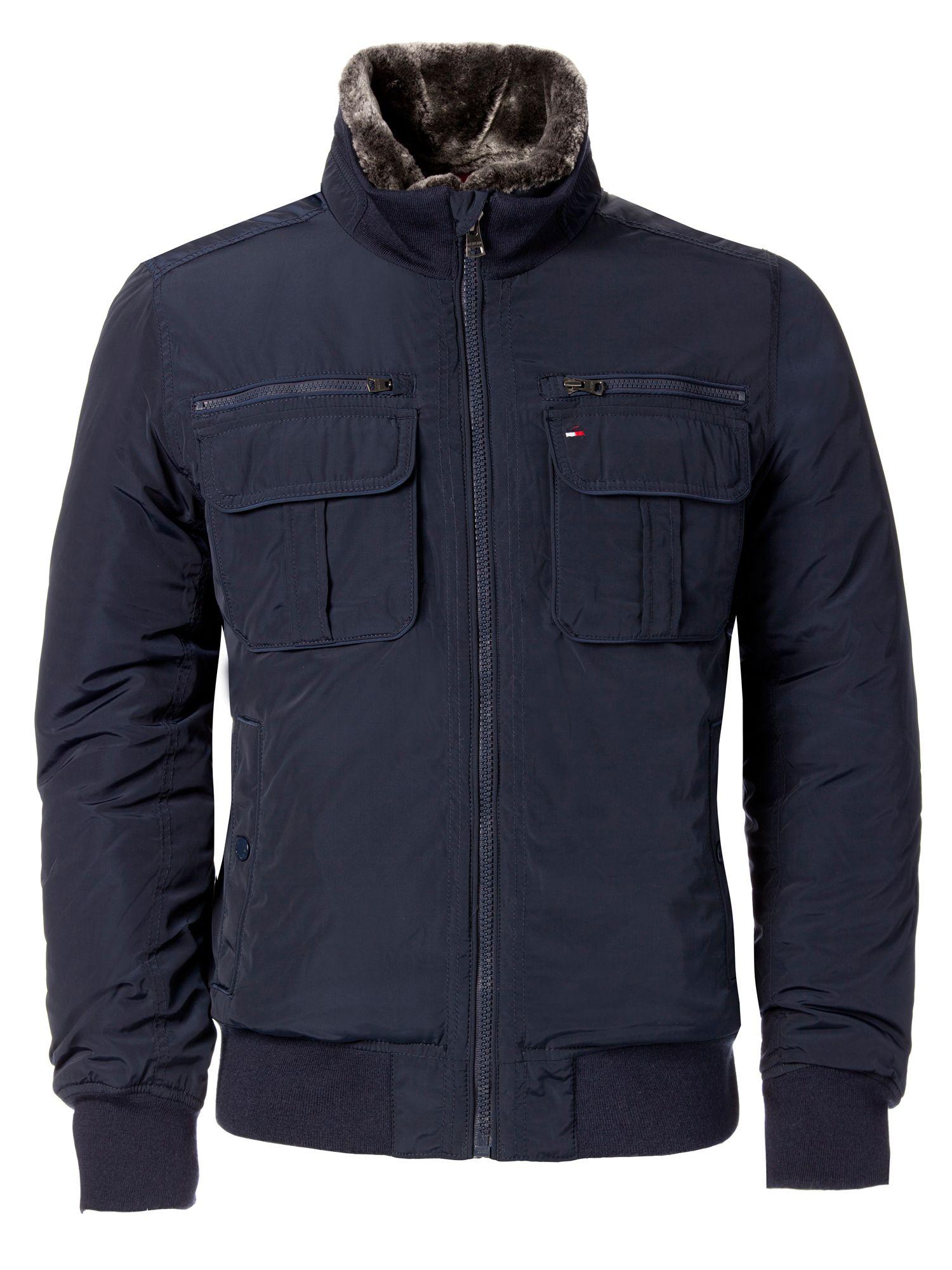Tommy Hilfiger Ken Bomber Jacket In Blue For Men Lyst