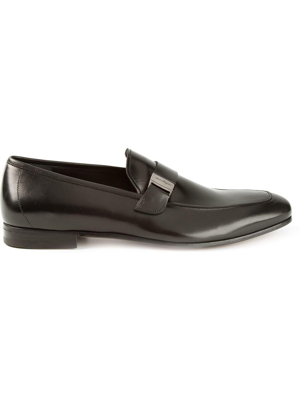Salvatore Ferragamo Alan Suede Slip On Shoes