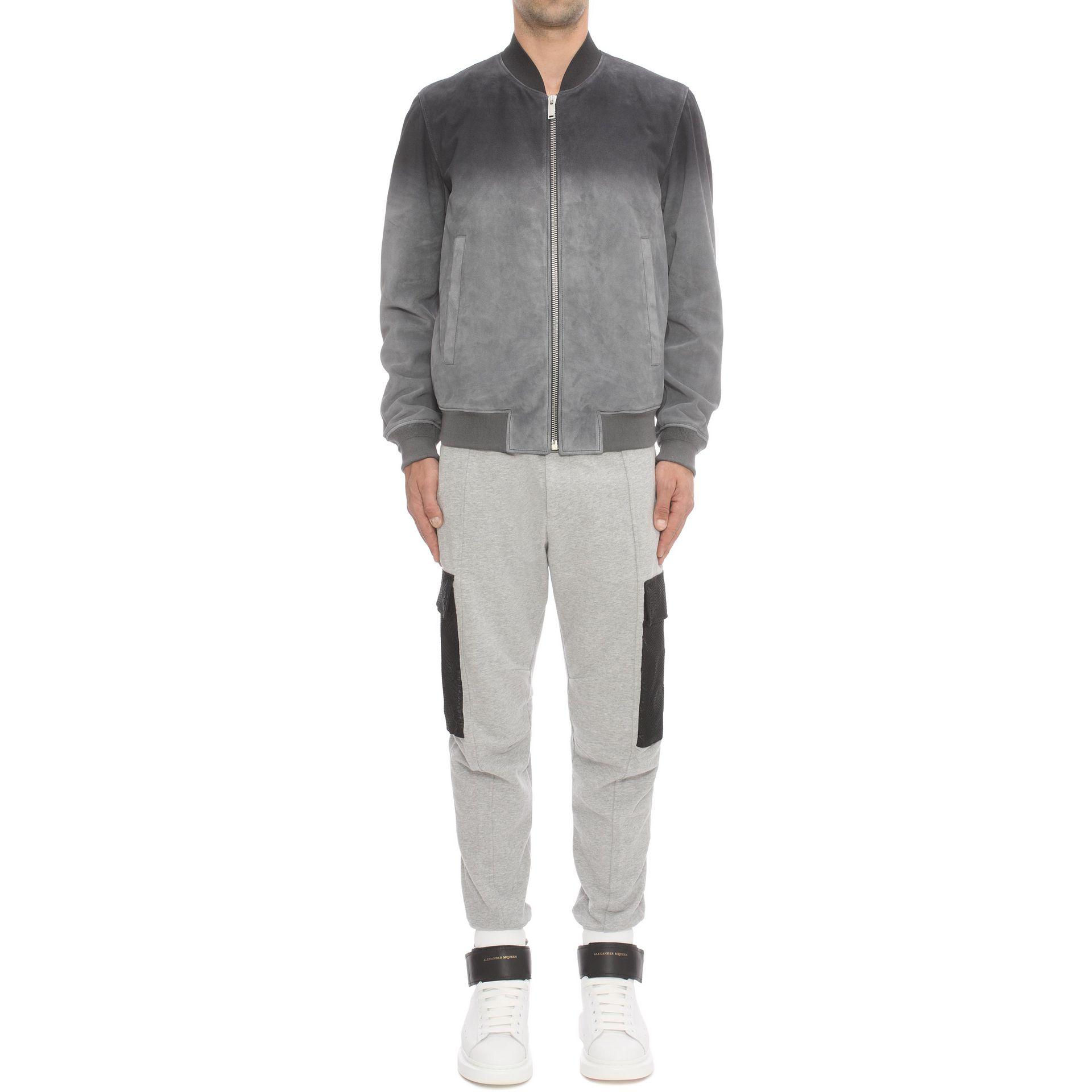 alexander mcqueen sweatshirt trousers in gray lyst. Black Bedroom Furniture Sets. Home Design Ideas