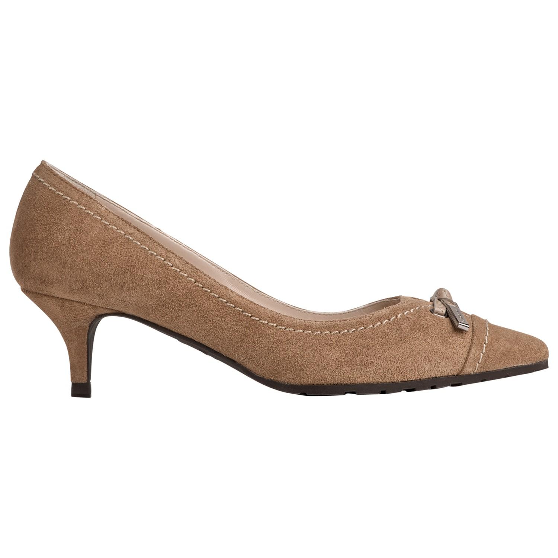 5de30a1ddc7 L.K.Bennett Clara Kitten Heeled Court Shoes in Brown - Lyst