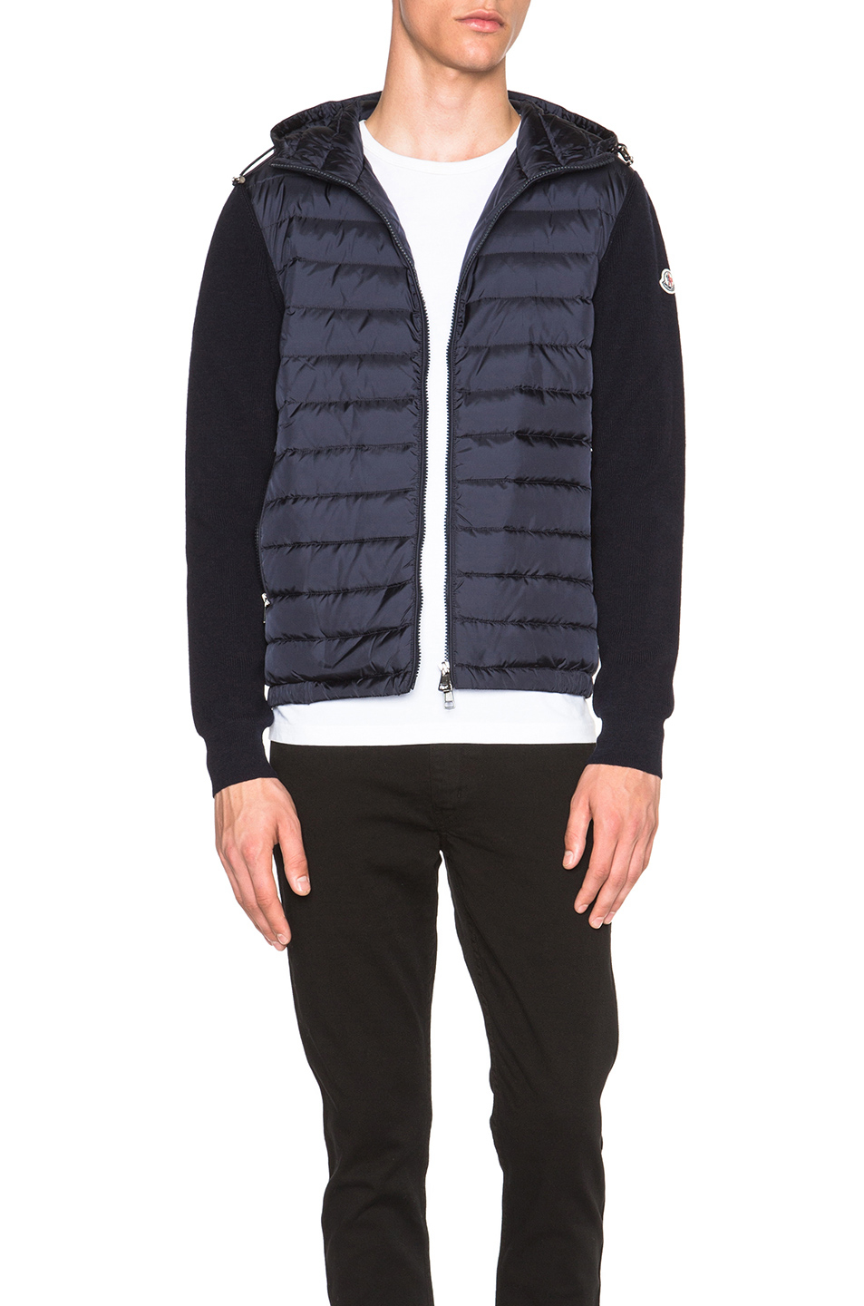 Moncler Cardigan Hoodie In Blue For Men Lyst