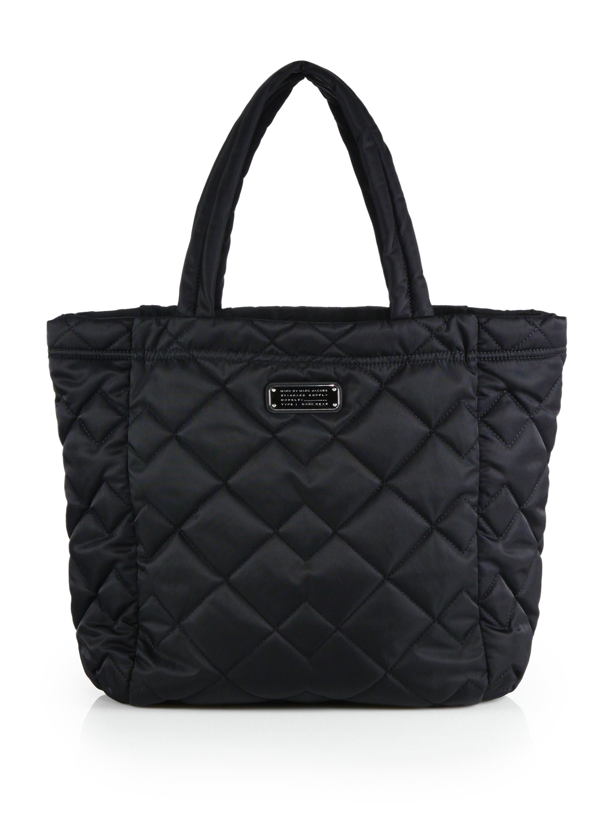 Marc By Marc Jacobs Crosby Quilted Nylon Tote In Black Lyst