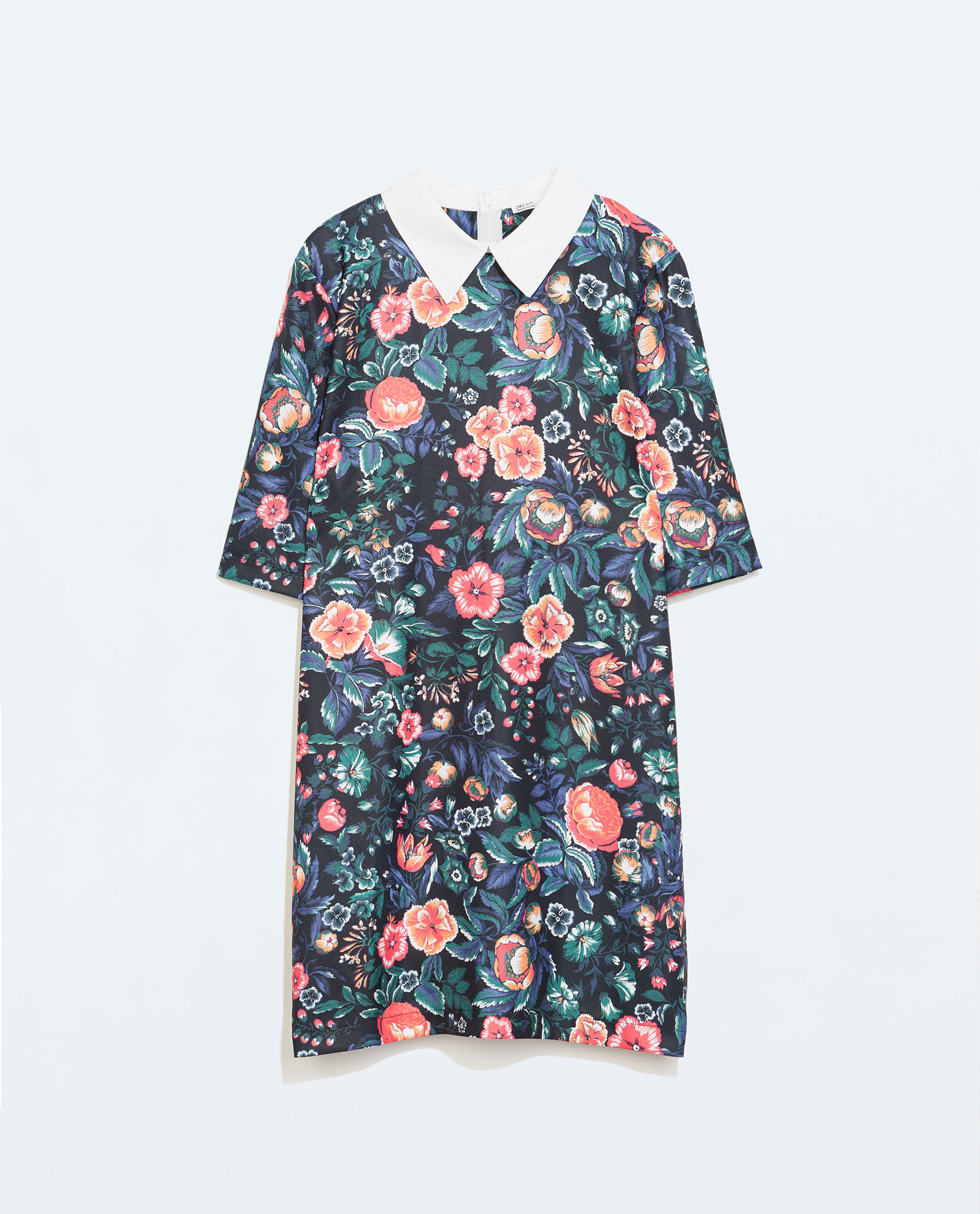 Zara floral dress with shirt collar in floral print 1 lyst for Zara mens floral shirt