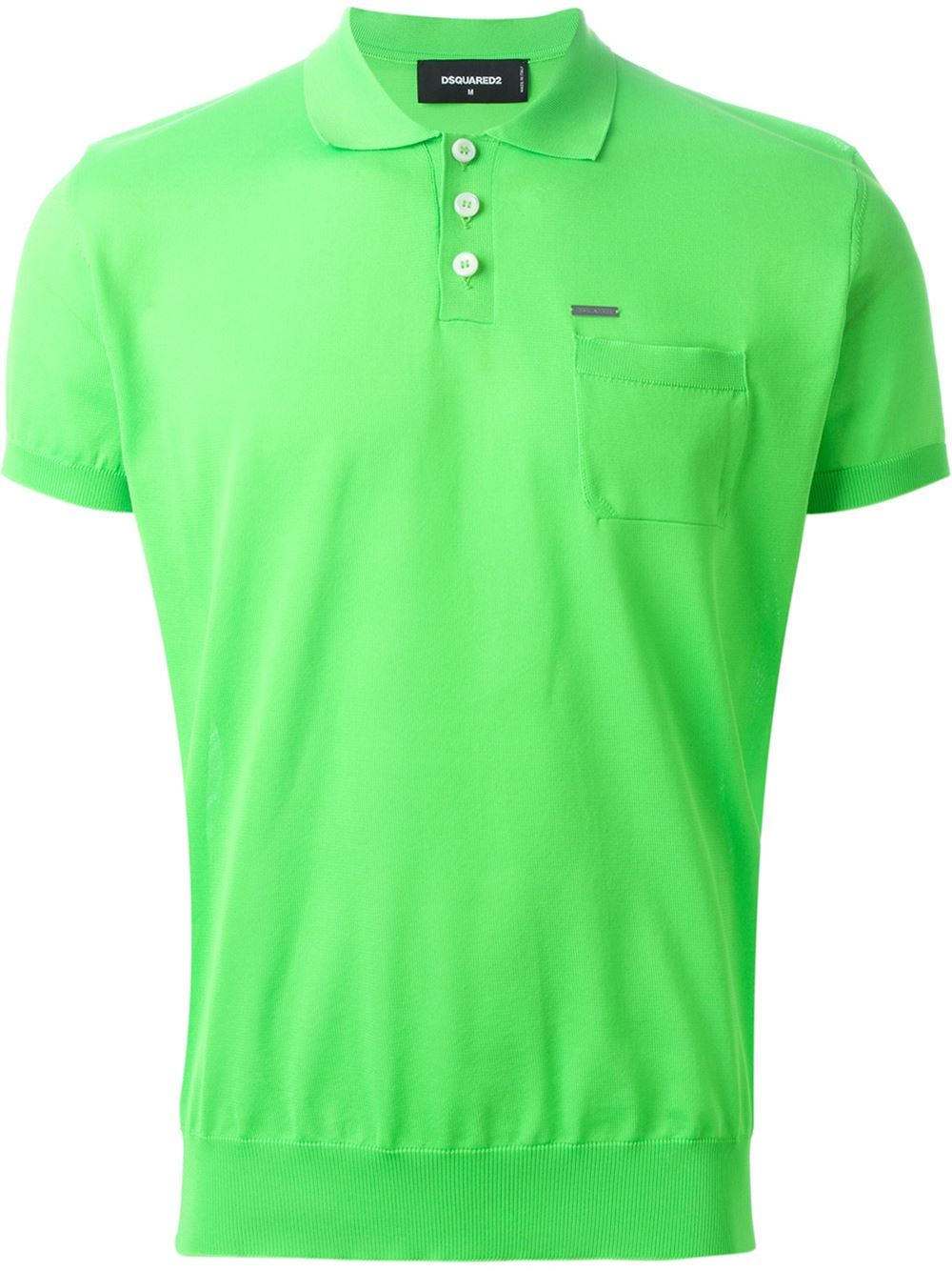 Dsquared classic polo shirt in green for men lyst Man in polo shirt