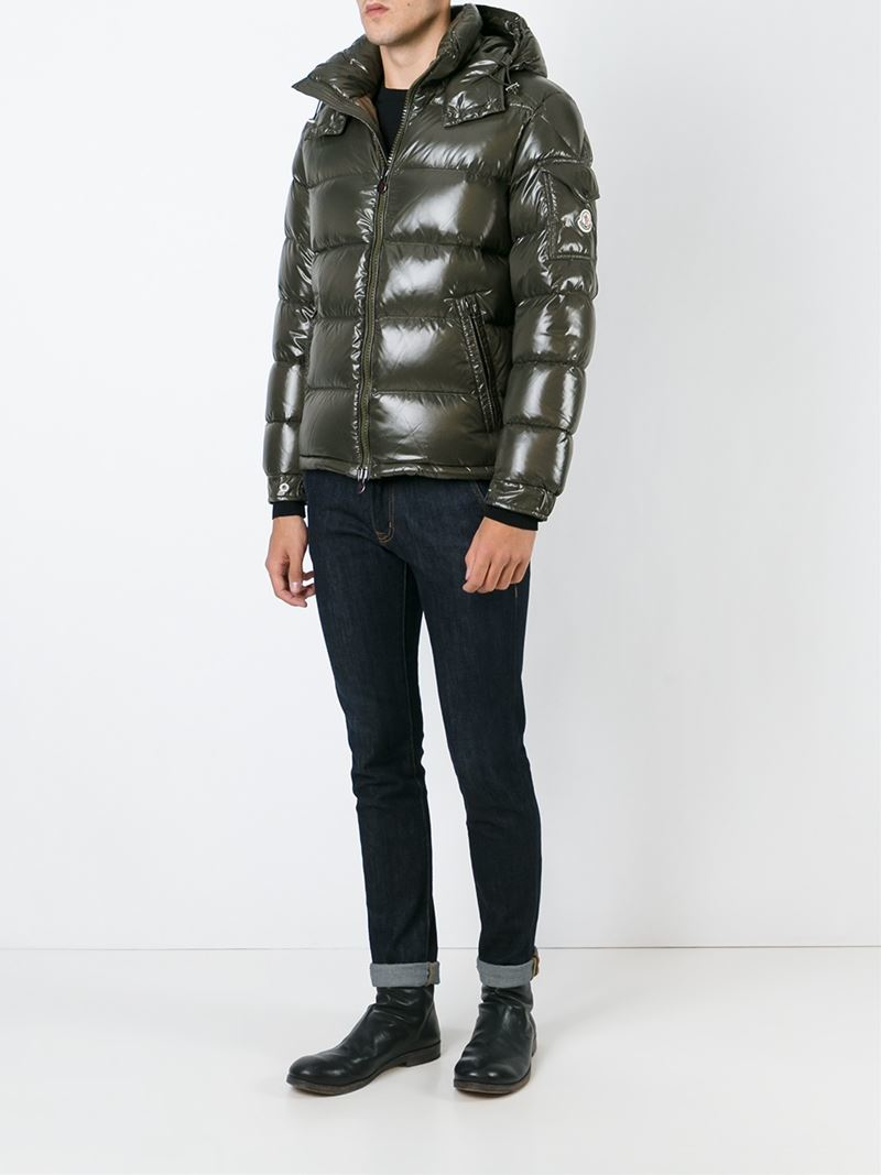d41576c2820 Lyst - Moncler  maya  Padded Jacket in Green for Men