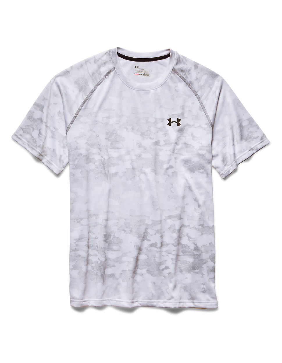 Lyst under armour tech camo print t shirt in white for men for Under armour printed t shirts