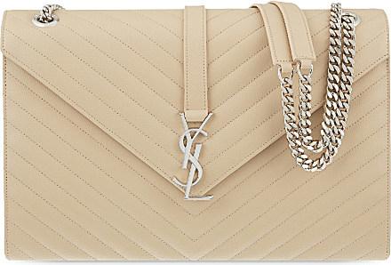 Saint Laurent Monogram Large Quilted Leather Shoulder Bag in Natural ... 213f323211e28