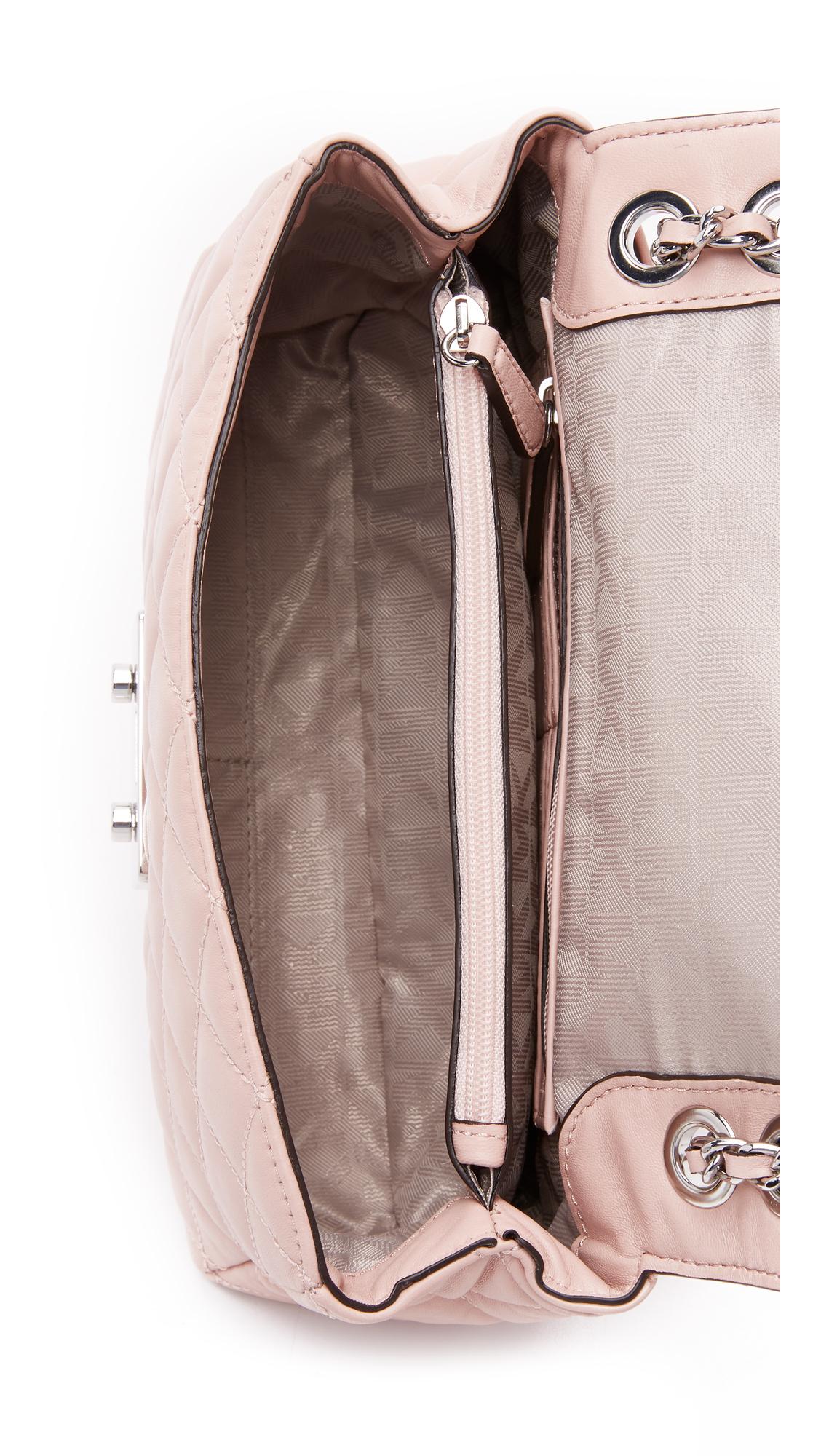 michael kors sloan large quilted-felt shoulder bag