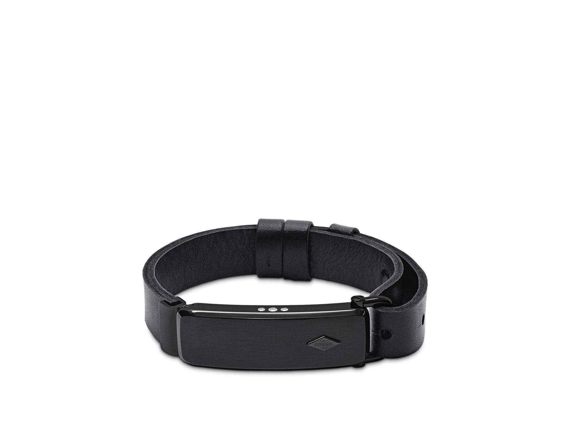 fossil q reveler fitness tracker bracelet in black for men lyst. Black Bedroom Furniture Sets. Home Design Ideas