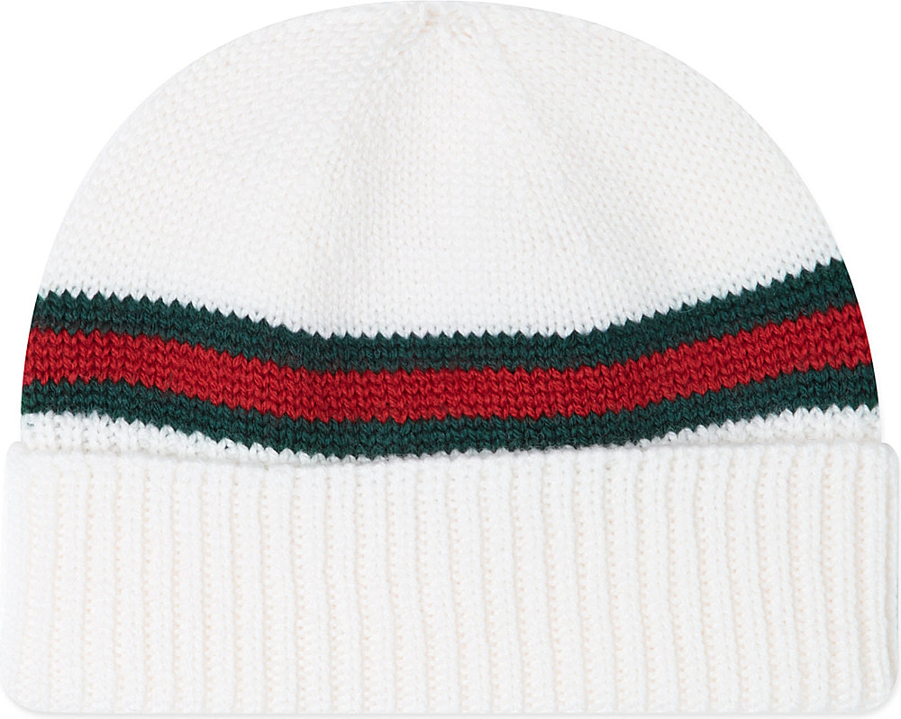 8243e25e24a3 Gucci Classic Band Knitted Beanie S-l in White for Men - Lyst