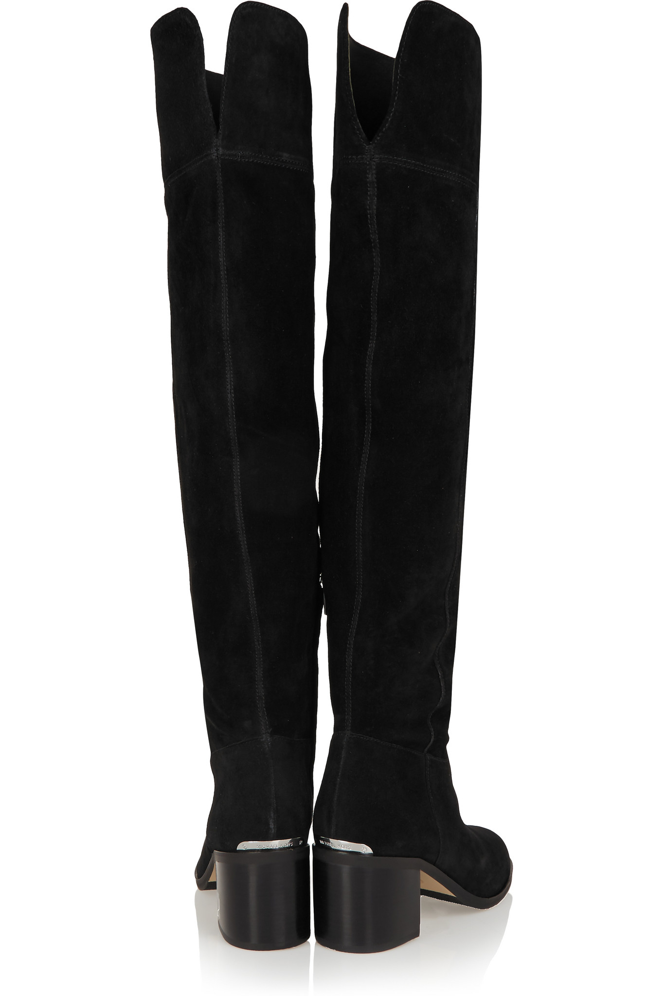 af32fe25432 MICHAEL Michael Kors Paulette Suede Over-the-knee Boots in Black - Lyst
