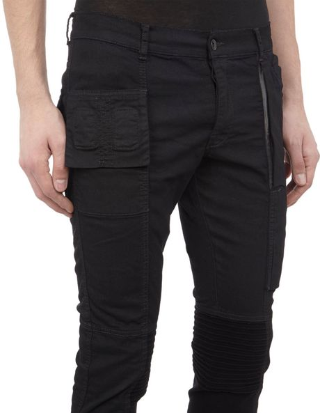 Black Cargo Pants For Men Cargo Pants in Black For
