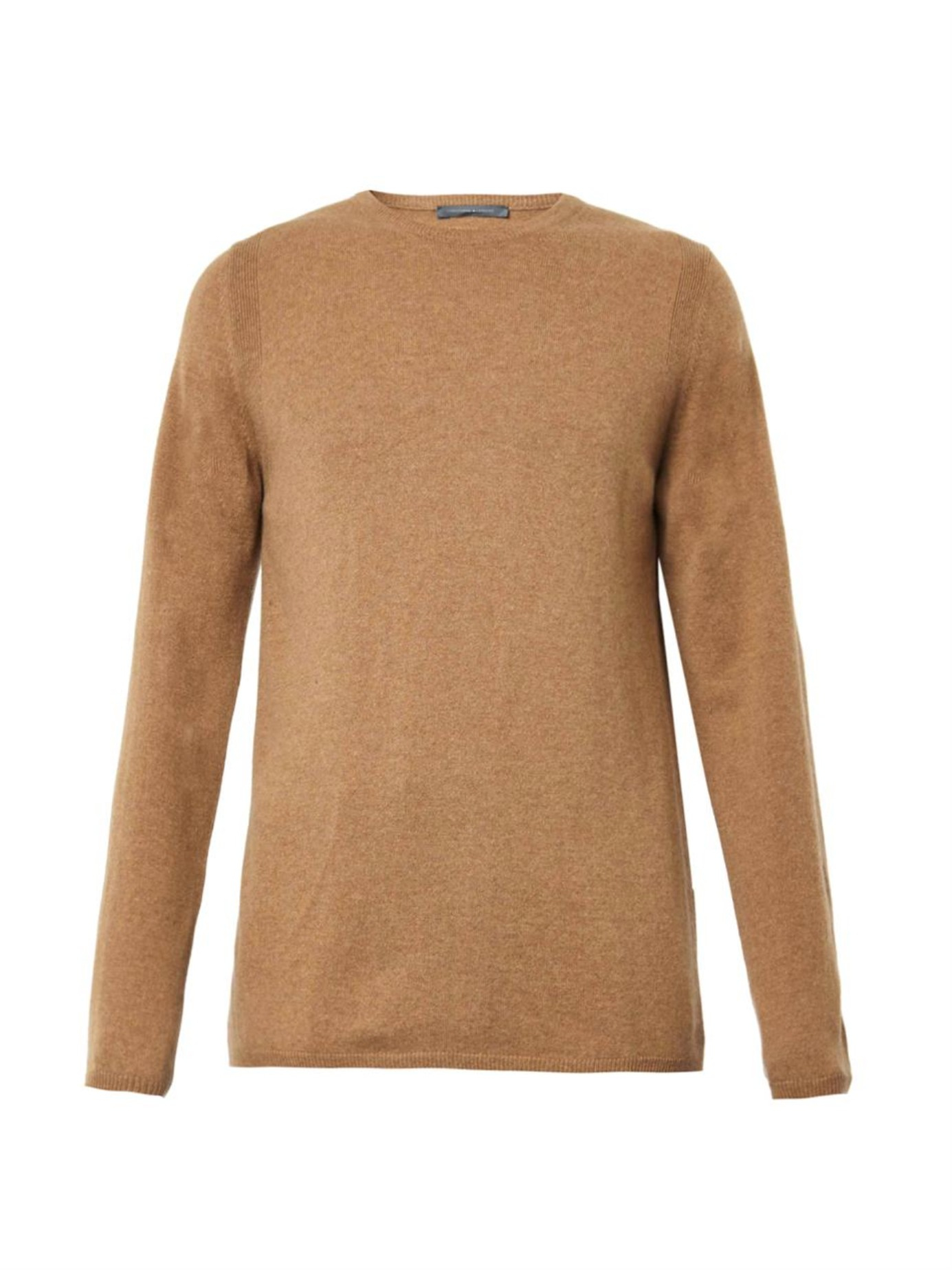 Lemaire Crew-neck Cashmere Sweater in Brown for Men | Lyst