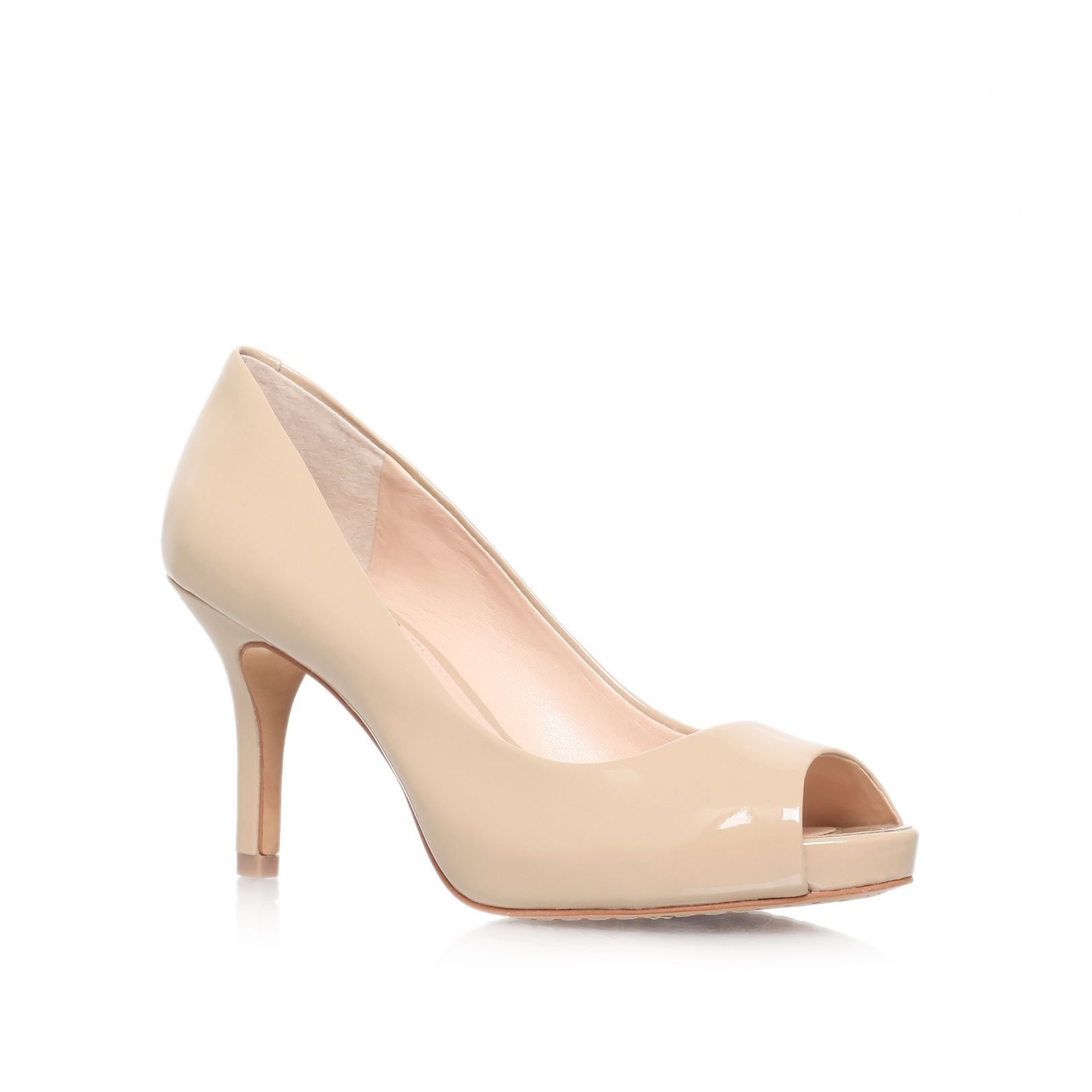 Vince camuto Kiley High Heel Peep Toe Court Shoes in Natural | Lyst
