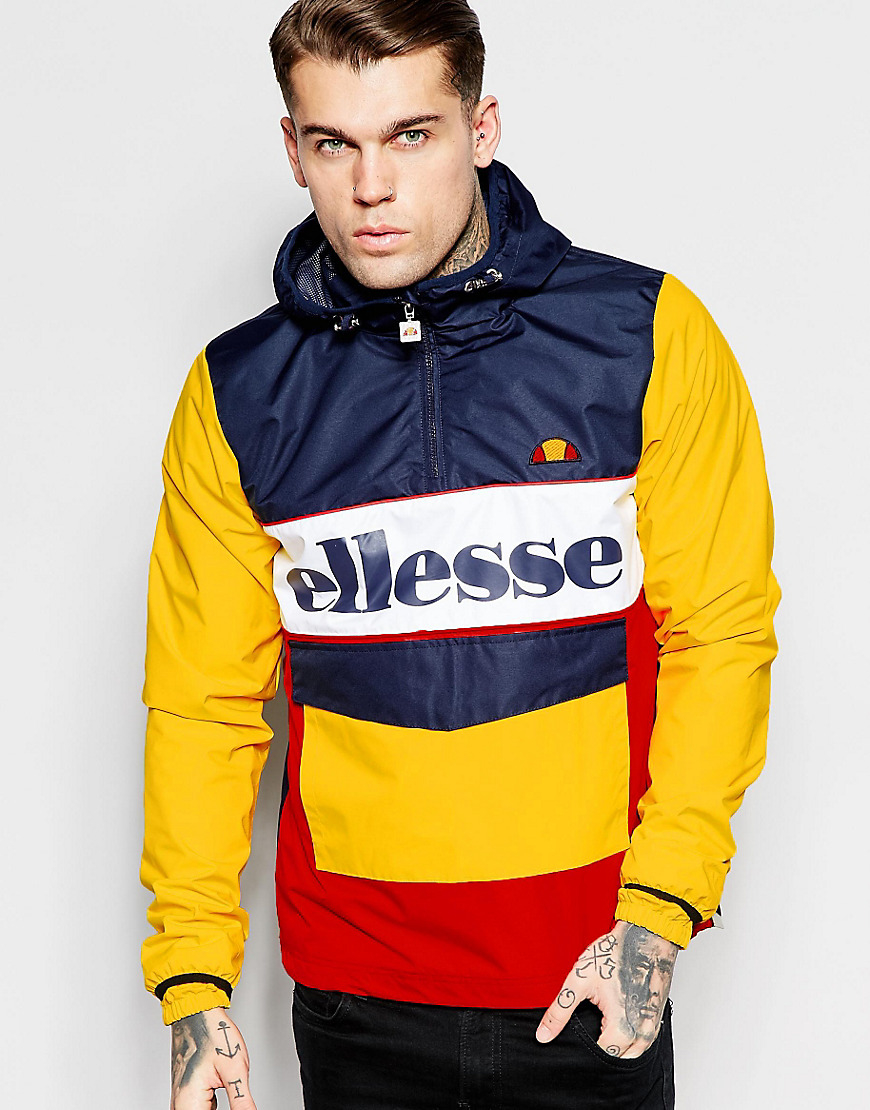 Ellesse Synthetic Overhead Jacket With Large Logo In