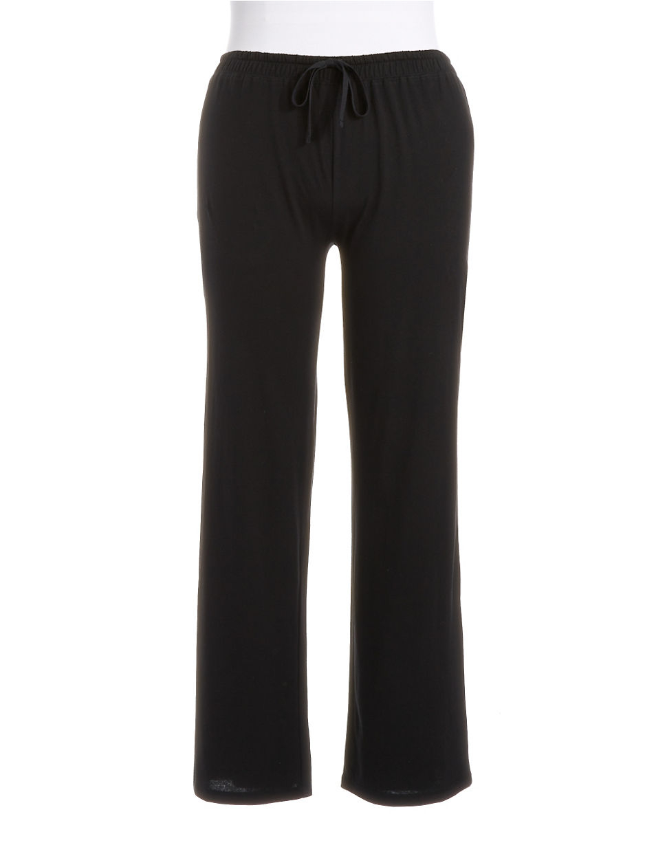 Lord Amp Taylor Plus Pima Cotton Lounge Pants In Black Lyst