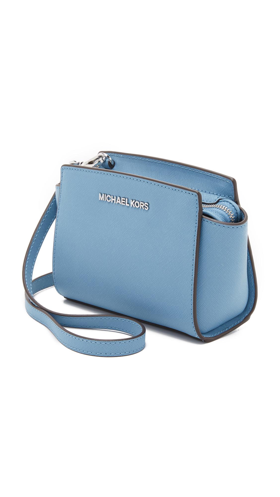 Bag Selma Michael Lyst In Blue Cbdeqxrow Kors Mini Messenger 0OZN8PkwnX